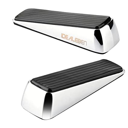 [2 Pack] Doorstop / Door Buffers Made of Stainless Steel and Rubber Non  sc 1 st  Amazon.com & Amazon.com : [2 Pack] Doorstop / Door Buffers Made of Stainless ...