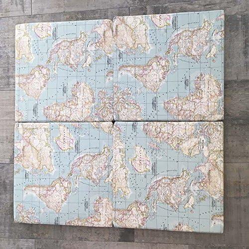 120/x 120/cm sfoderabile e lavabile gattonamento e movimento libero mappamondo Mimuselina Materassino da pavimento per giochi evolutivi per bambini pieghevole con cerniere antigraffio