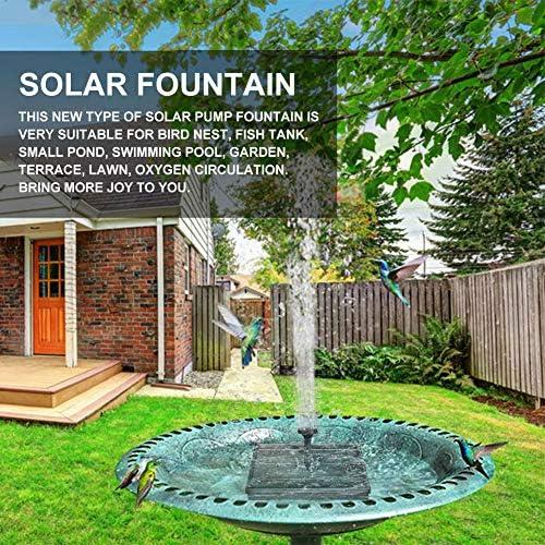 Quadrat Teich careslong Solar Springbrunnen Mit LED Licht 2.4 W Solar Teichpumpe Mit Solarpanel Eingebaute Batterie Wasserpumpe Solar Schwimmender Font/äne Pumpe Mit 6 Font/änenstile F/ür Garten