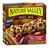 Nature Valley Trail Mix Chewy Granola Bars Dark Chocolate Cherry 7.4 OZ (Pack of 24)