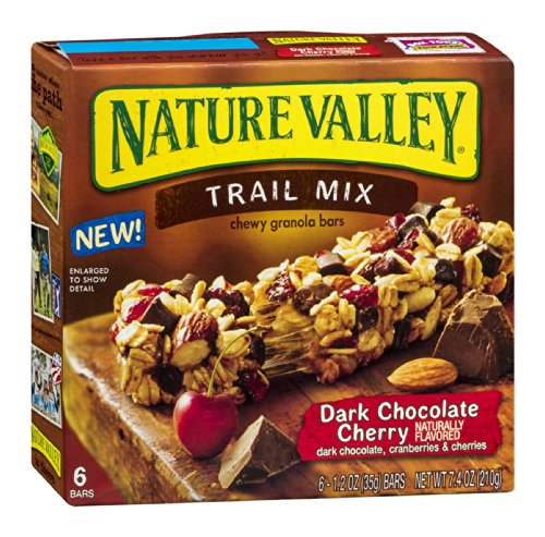 Nature Valley Trail Mix Chewy Granola Bars Dark Chocolate Cherry 7.4 OZ (Pack of 24) by Nature Valley