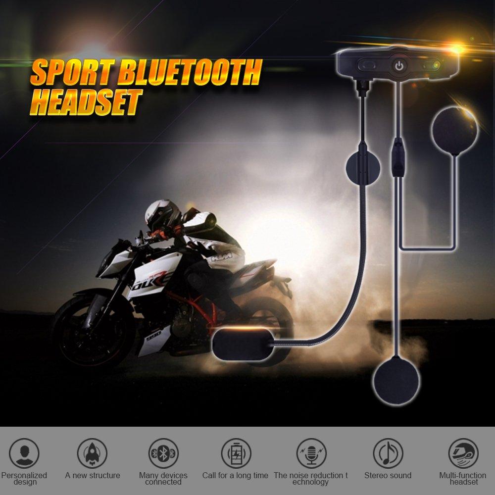 Motorcycle Bluetooth 4.1 Helmet Headset Handsfree Calls Voice Command with Speakers Headphones for Motorbike Skiing SCS ETC S-7 Motorcycle Helmet Intercom Communication Systems Kit