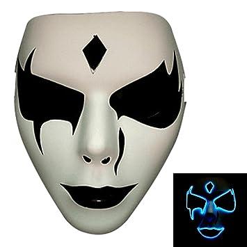 Bonamana Licht leuchten Maske Kostüm EL LED Draht Halloween Maske ...
