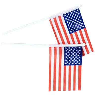 AZOWA American Flag US Flag Small American Flags On A Stick 4x6 Inch Set Of 20
