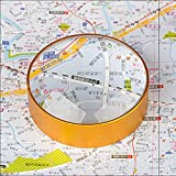6X Domed Magnifying Glass 60mm/2.4'' Golden Desktop Paperweight Magnifier Reading Aid for Small Fine Print,Newspaper,Bible,Document Examination,Recipes, Craft and Map, Hand Polished & Light Gathering