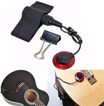 Pro Contact Micrófono Mic Pickup para Guitarra Violín Banjo Ukulele Mandolin: Amazon.es: Juguetes y juegos