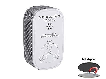 Elro - Detector de Monóxido de Carbono con Batería DE 10 Años, Detector de Monóxido
