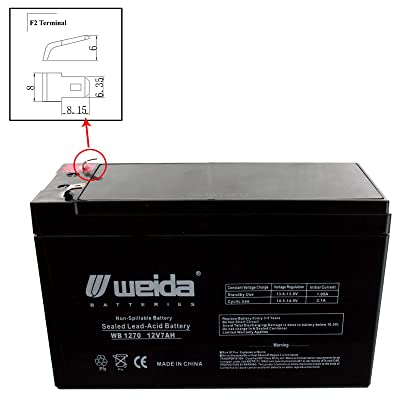 New 12V 7Ah SLA Battery WB1270F2 Replaces UB1270, PS1270, WKA12-7F USA : Sports & Outdoors