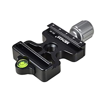 Monopod Compatible with Arca-Swiss Standard MENGS DM-60N Quick Release Clamp Aluminum Alloy For Arca-Swiss Plate and Tripod