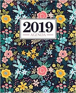 Fiori Gialli Libri.Amazon It Agenda 2019 19x23cm Agenda 2019 Settimanale Italiano