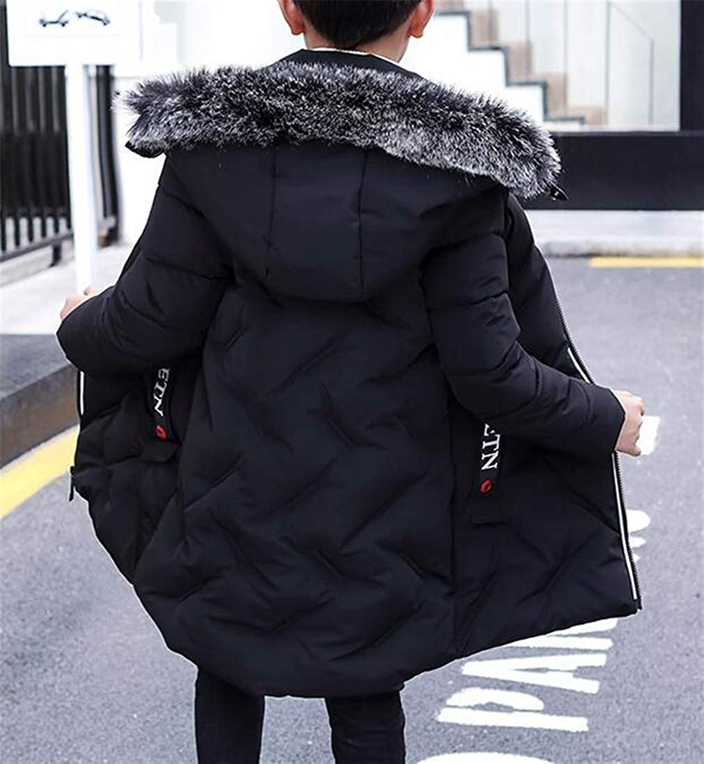 Lutratocro Boys Quilted Hoodie Winter Outwear Cute Thick Parkas Coat