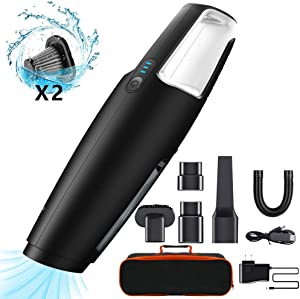 BOLWEO Portable Handheld Vacuum Cleaner Cordless Dust Buster, 7KPA Powerful Suction Rechargeable Car Vacuum Dustbuster, Wet Dry Lightweight Hand Vac for Home Pet Hair, Car Cleaning