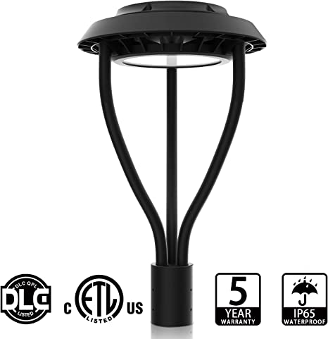 100W LED Circle Area Street Light 5000K IP65 Outdoor Post Top Pole Lamp Daylight