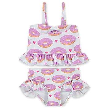 c020e811c8 Amazon.com: Girls' Two Piece Swimsuit Set Ruffled Bikini Swimwear (2 ...