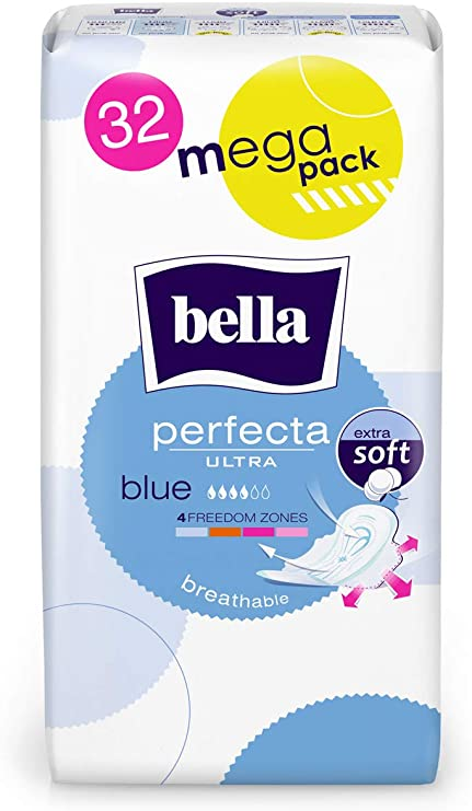 1 Pack of 32 Pieces Bella Perfecta Ultra Violet Megapack Sanitary Pads
