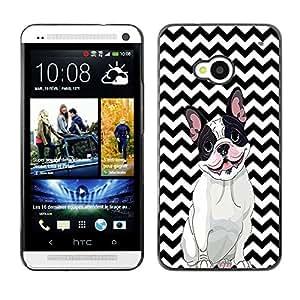 - FRENCH BULLDOG Chevron - - Fashion Dream Catcher Design Hard Plastic Protective Case Cover FOR HTC One M7 Retro Candy