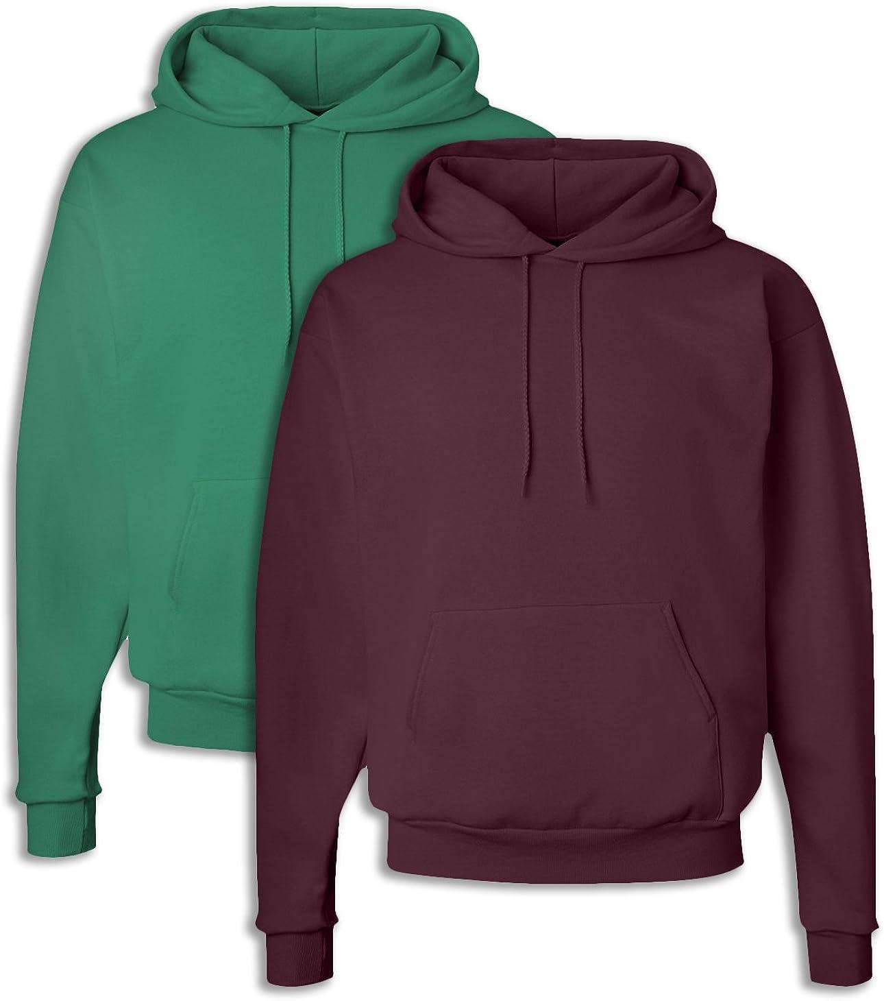 1 Maroon Hanes P170 Mens EcoSmart Hooded Sweatshirt 3XL 1 Kelly