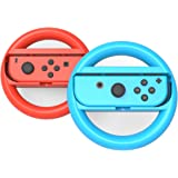 GH Nintendo Switch マリオカート 8 デラックス ハンドル 任天堂 スイッチ ジョイコン (Joy-Con) コントローラー 専用 2個 セット(赤1+青1)