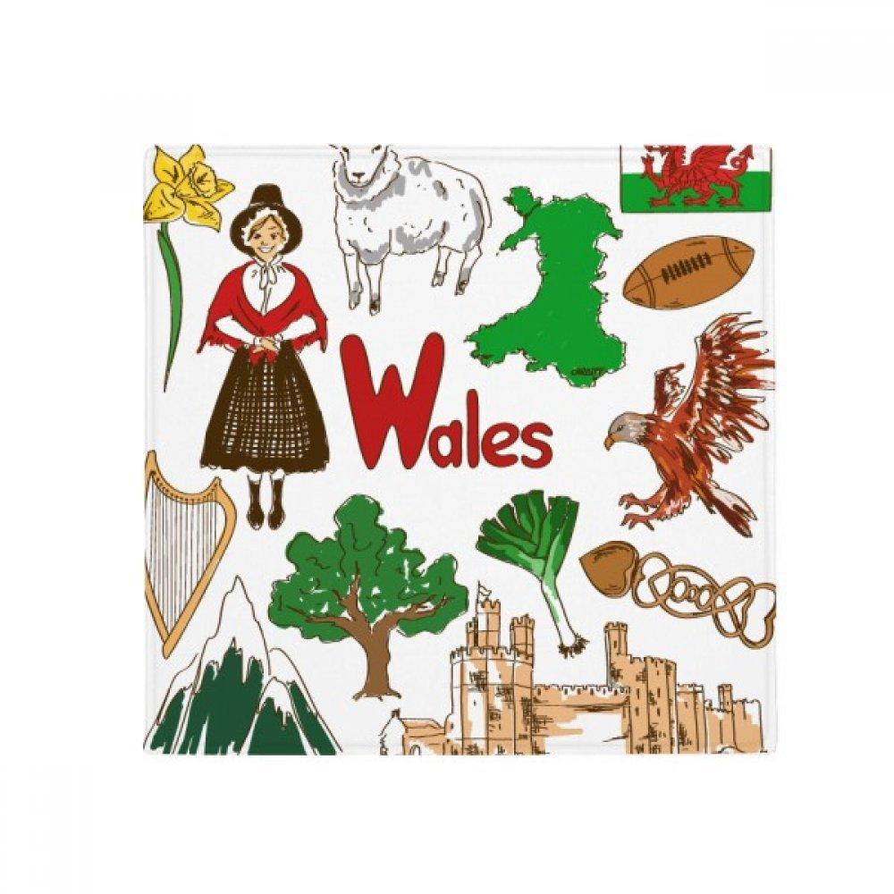 DIYthinker Wales Landscap UK National Flag Anti-Slip Floor Pet Mat Square Home Kitchen Door 80Cm Gift