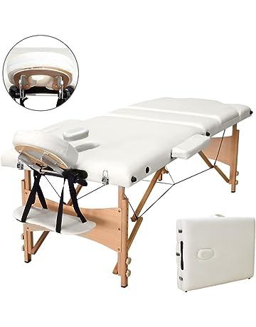 vesgantti 3 sección plegable Camilla de masaje, ignífugo masaje sofá cama con reposacabezas de metal