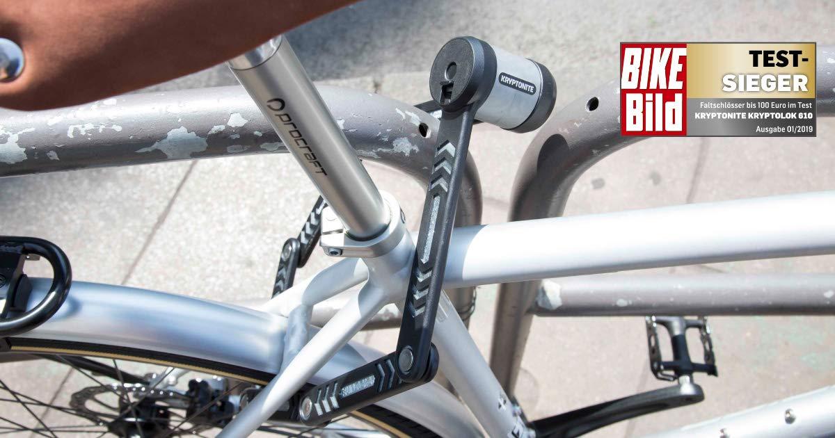 Folding Bicycle Key Lock Kryptonite KryptoLok 610 100cm w//Frame Mount New Bike