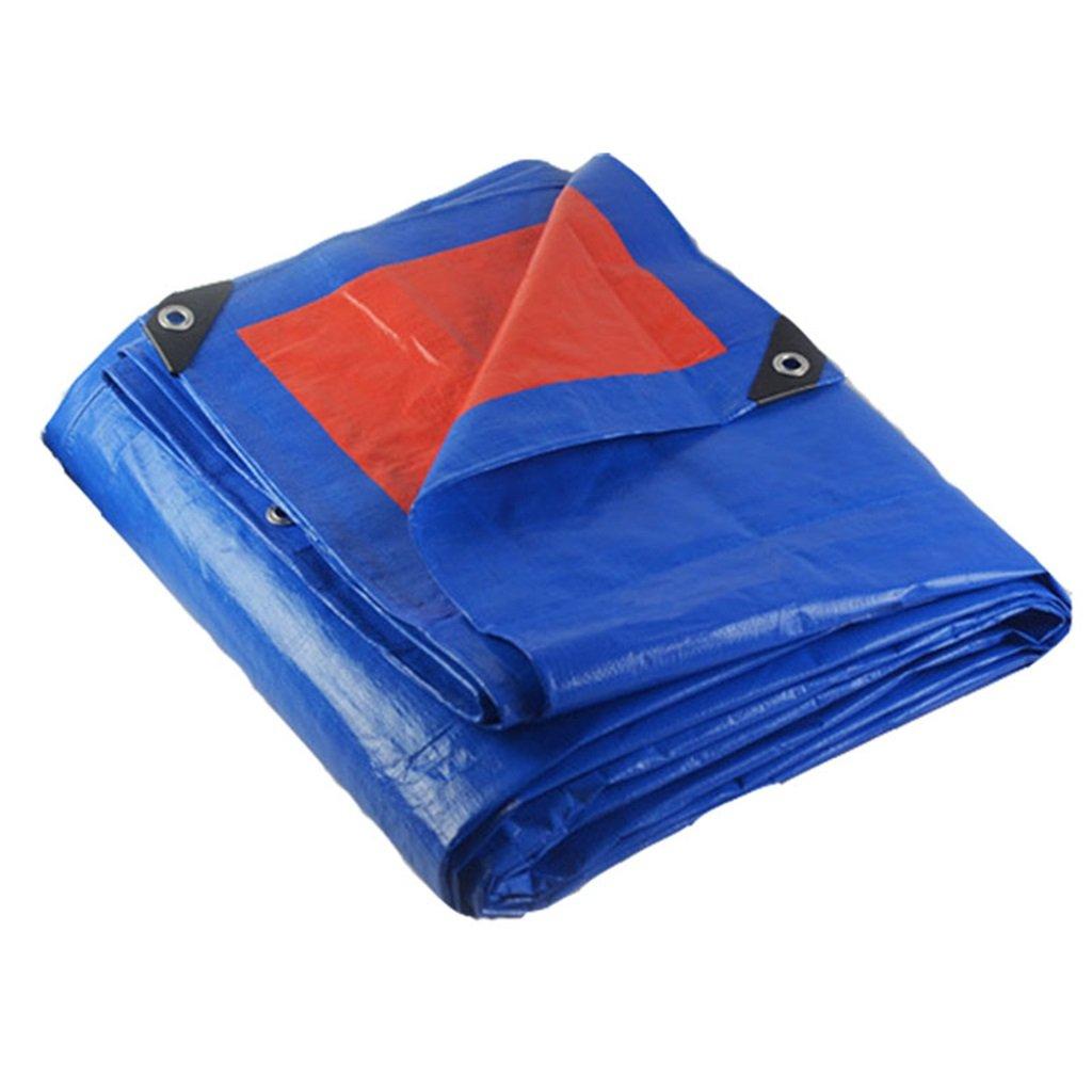 Teloni Panno di Tela Cerata Impermeabile Panno di Tela Impermeabile Camion Panno di Stoffa, Spessore 0,35 mm, 180 g   m2, 15 opzioni di Dimensioni, Blu + Arancio (Dimensioni   4  5m)