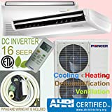 PIONEER Air Conditioner Inverter++ Split Heat Pump, 48,000 BTU, 208-230 V