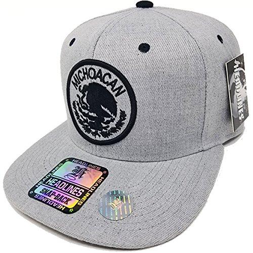 53b04052a09 MrKap Mexico City Michoacan Patch Hat Embroidery Men Women Snapback Cap  (Michoacan Silver) - Buy Online in Oman.