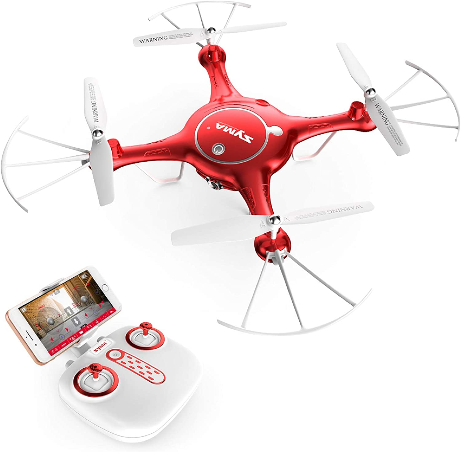 Syma Camera Drone Headless Helicopter Quadcopter Kids Toys Red