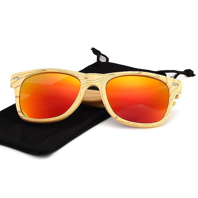 573ef571300b Occhiali da Sole Polarizzati Uomo Donna Specchio con Vintage Super Leggero  Tempio -100% UVA