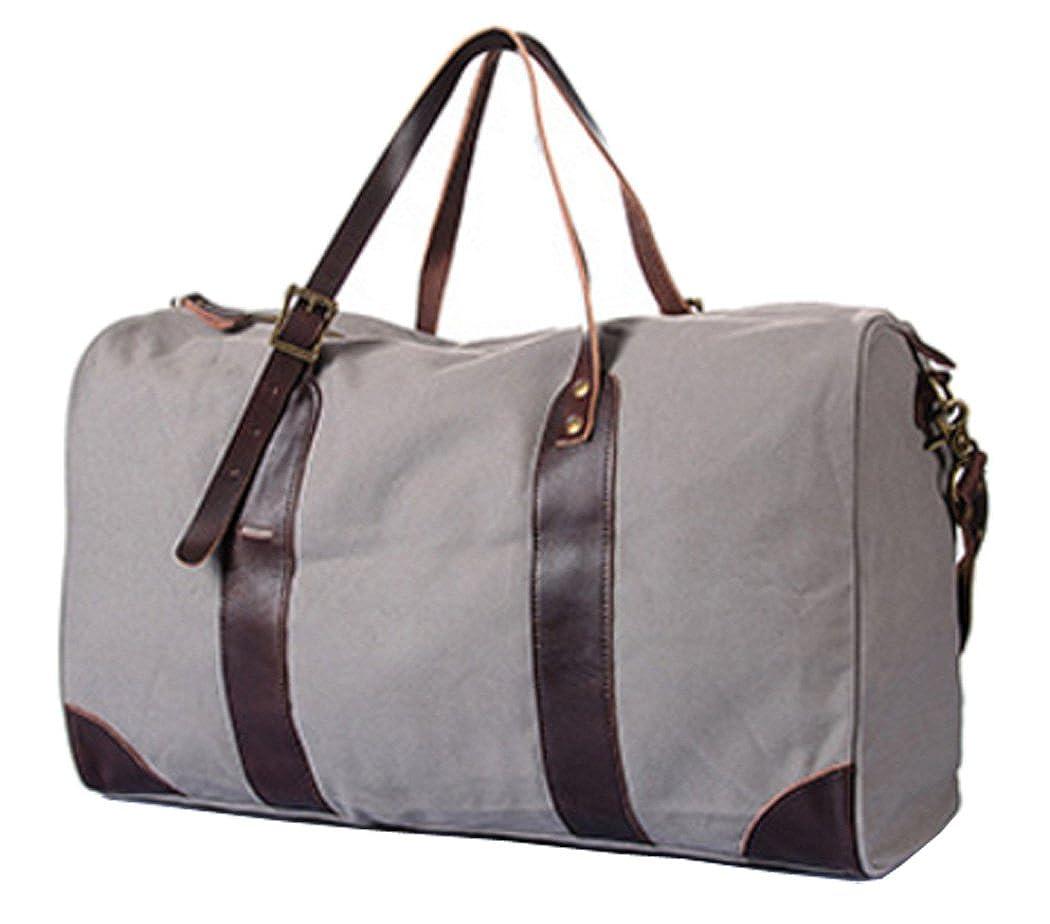 SOURCE POINT旅行バックハンドバッグショルダーバッグスーツケース欧米帆布大容量 M 銀白 B07C96SPDB