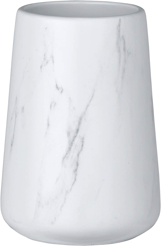 marr/ón 7 x 11 x 7 cm Wenko 23631100-Vaso de Dientes cer/ámica