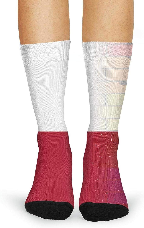 XIdan-die Womens Over-the-Calf Tube Socks Gay Rainbow Wall Texan Flag Moisture Wicking Casual Socks