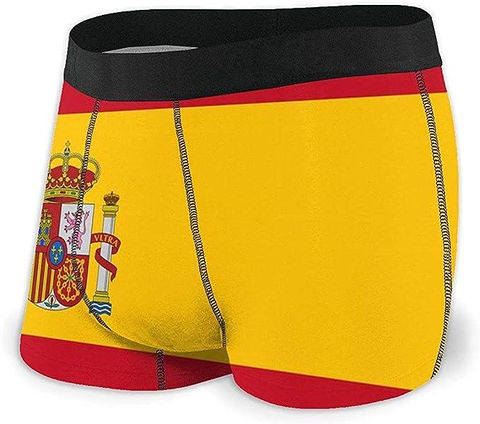 Web--ster Bandera de España Calzoncillos Boxer para Hombre Ropa ...