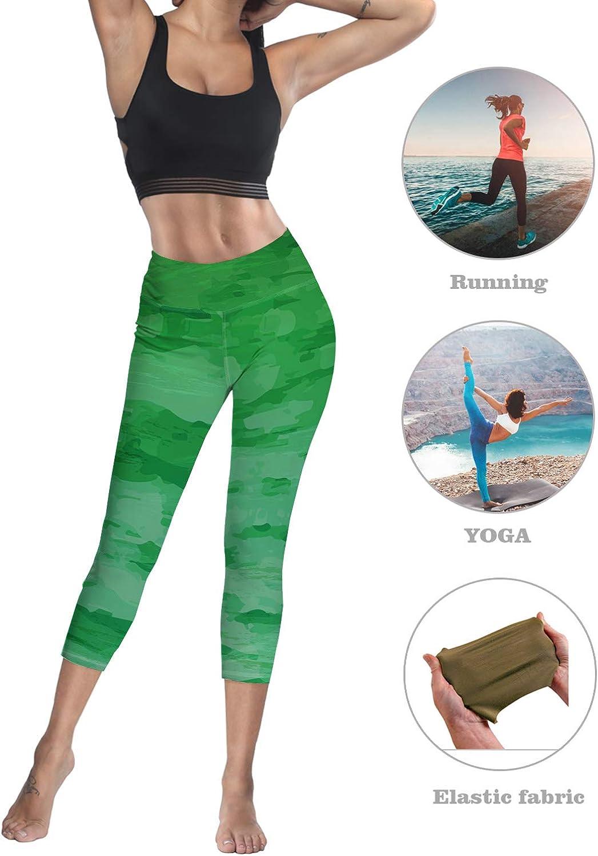 Eelivero Womens Tummy Control High Waist Leggings Mandala Pattern