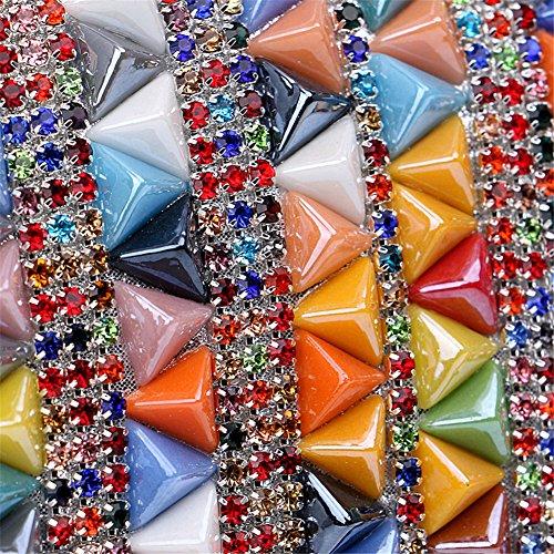 Noche De De Banquete La Del Del Hombro Msfs De Oro Vestido Boda Fiesta Del Diamante De Las De Embrague La Colorido Cadena De Mujeres Zzz56Tq