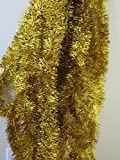"Gold Foil Tinsel Christmas Garland 354"" (29.5 Feet) By Blue Green Novelty"