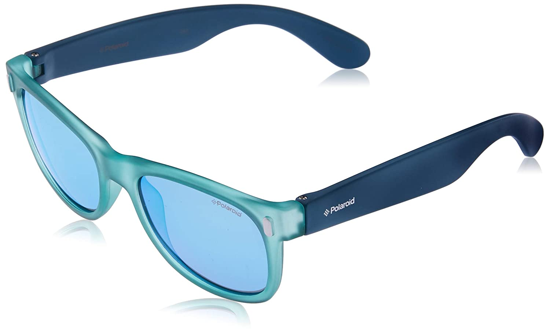 Polaroid P0115 JY UDF, Gafas de Sol Unisex Niños, Azul (Bluette Lime/Grey Blue Mirror Polarized), 46: Amazon.es: Ropa y accesorios
