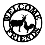 Southern Design Metal Welcome Sign - Friends