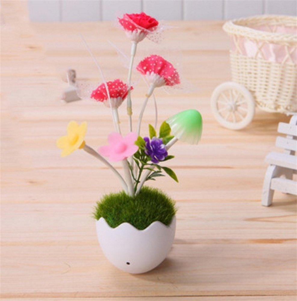 QI3 Creative Flowerpot Bonsai Nightlight Sensore di Controllo della Luce coloreato Nightlight Camera da Letto Attacco da Parete, 3