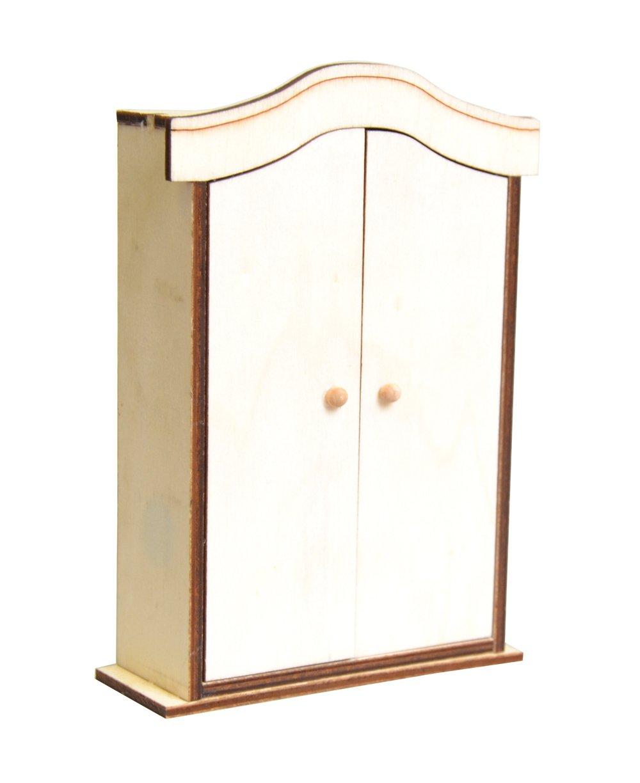 Artemio - Mini armadio in legno, c10 x 14,5 x 3,5 cm, colore: beige 14001609