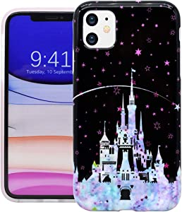 Unov Phone Case for iPhone 11 Case Soft Protective Slim TPU Shockproof Bumper Design 6.1 Inch(Watercolor Castle)