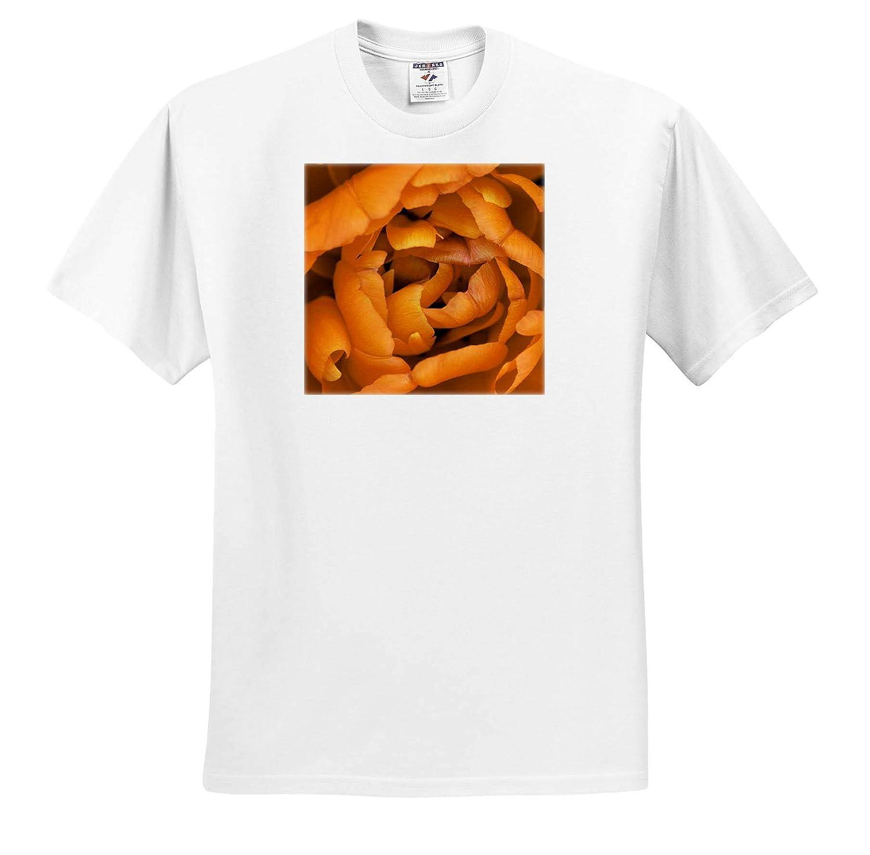 Macro Photograph of Orange Tulip Petals ts/_309952 Flowers 3dRose Stamp City - Adult T-Shirt XL