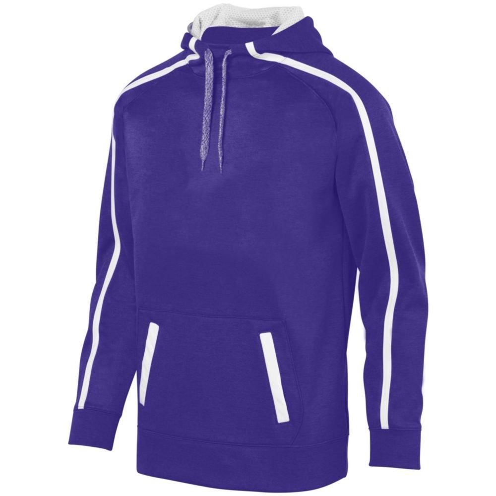 Augusta Sports Youth Stoked Tonal Heather Hoody, Purple/White, Small