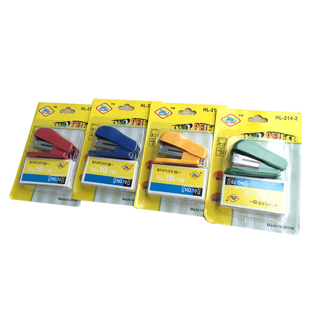 Colori casuali 6pz Toyvina Mini Cucitrici con graffette Accessorio scrivania classico dal design moderno