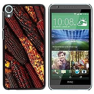 TopCaseStore / la caja del caucho duro de la cubierta de protección de la piel - Autumn Summer Farming Field Red - HTC Desire 820
