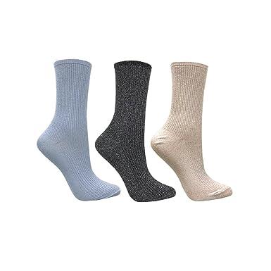 72df5ed60 3 Pack women s shimmer trouser socks in black