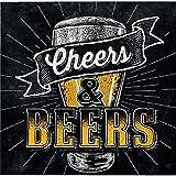 192-Count Beverage Paper Napkin, Cheers and Beers