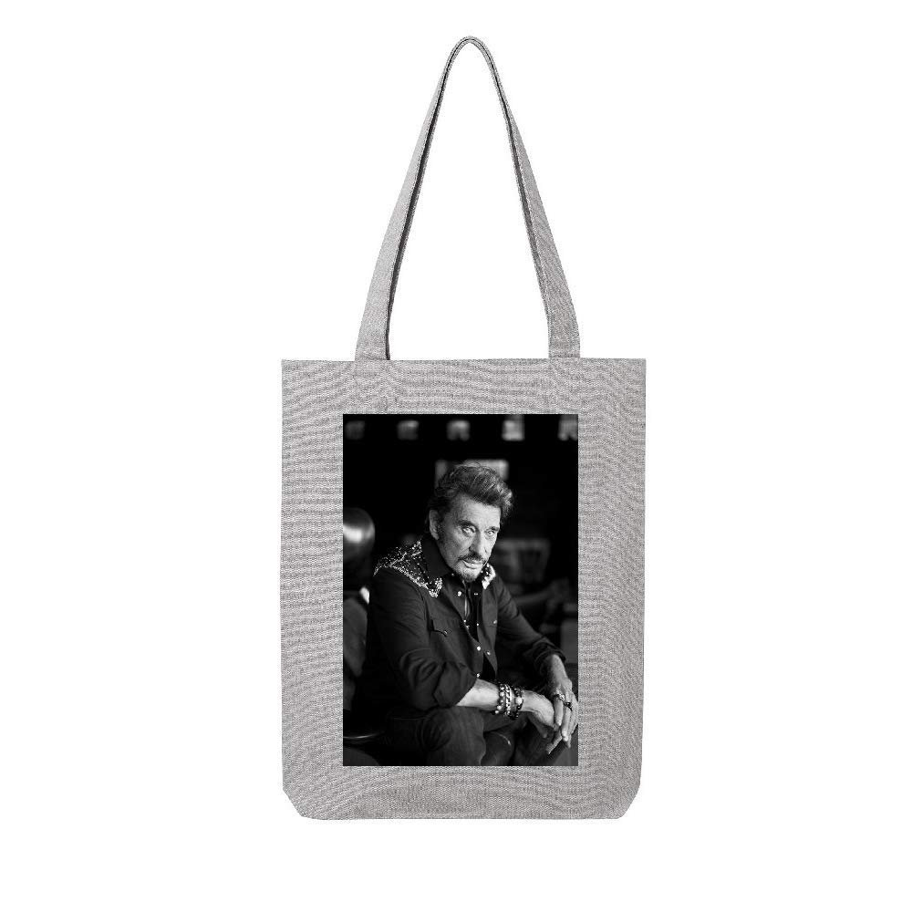 access-mobile-ile-de-re.fr Tote bag en toile recycle gris johnny hallyday 17