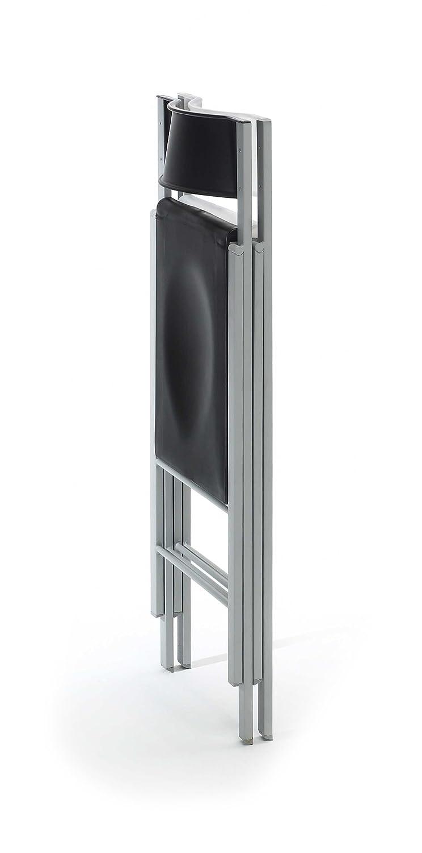 Due-home Silla Plegable sillas taburetes, Color Blanco